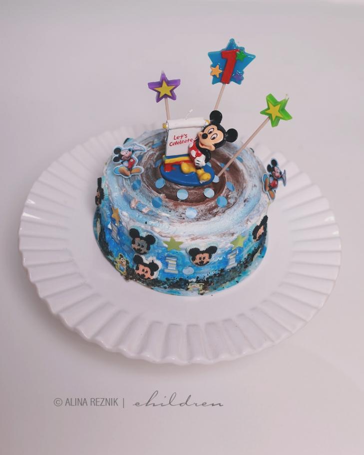 Birthday Cake with Mickey